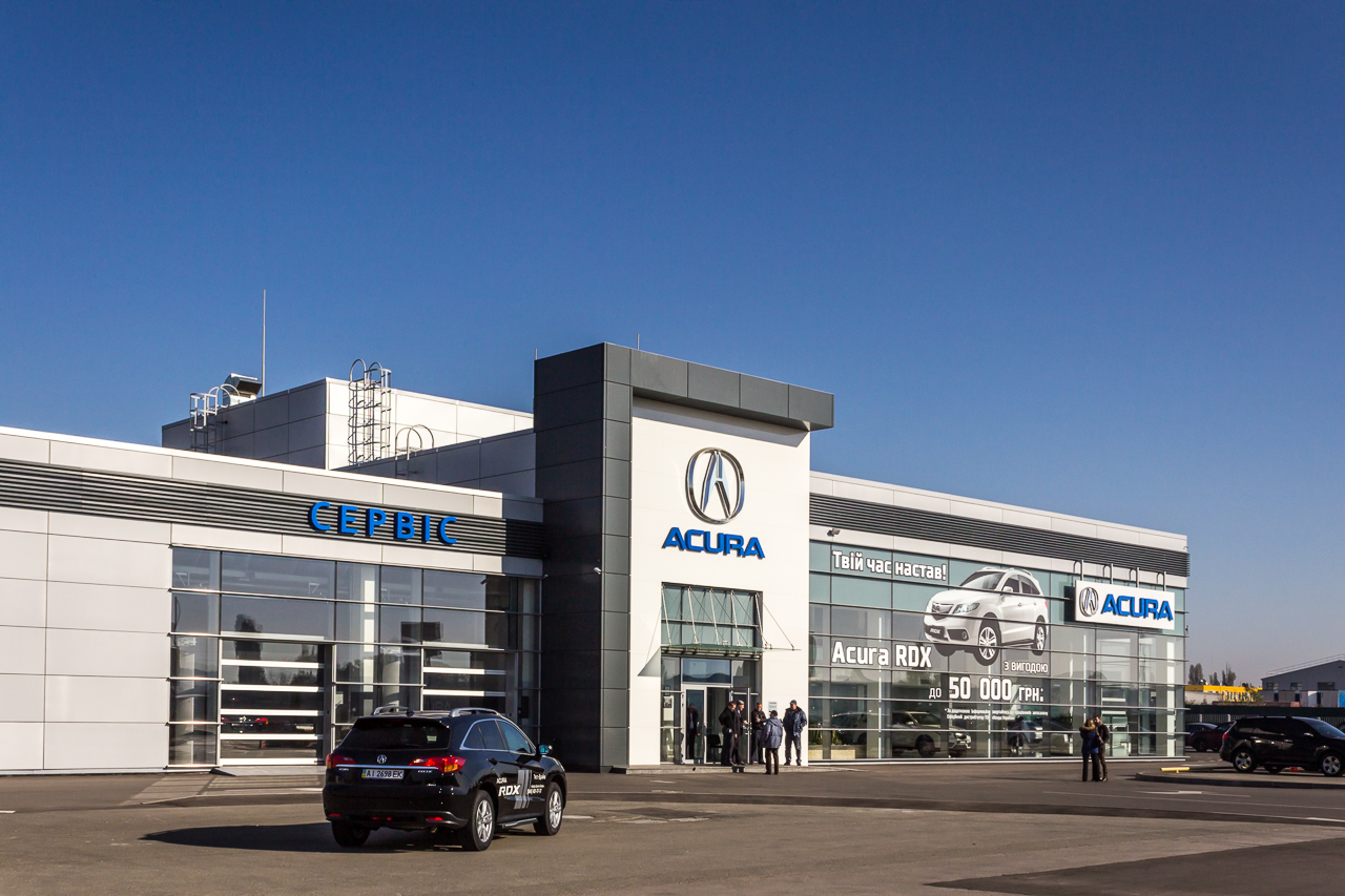 ACURA showroom and service center on Velyka Kiltseva road, Kyiv (implemented)