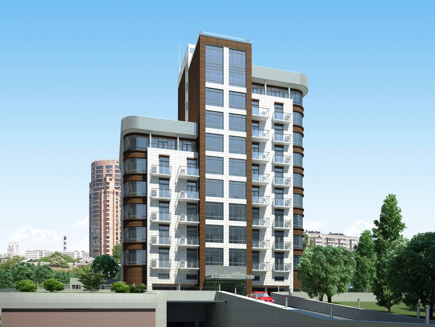 Residential building on Lesi Ukrainky blvr, Kyiv
