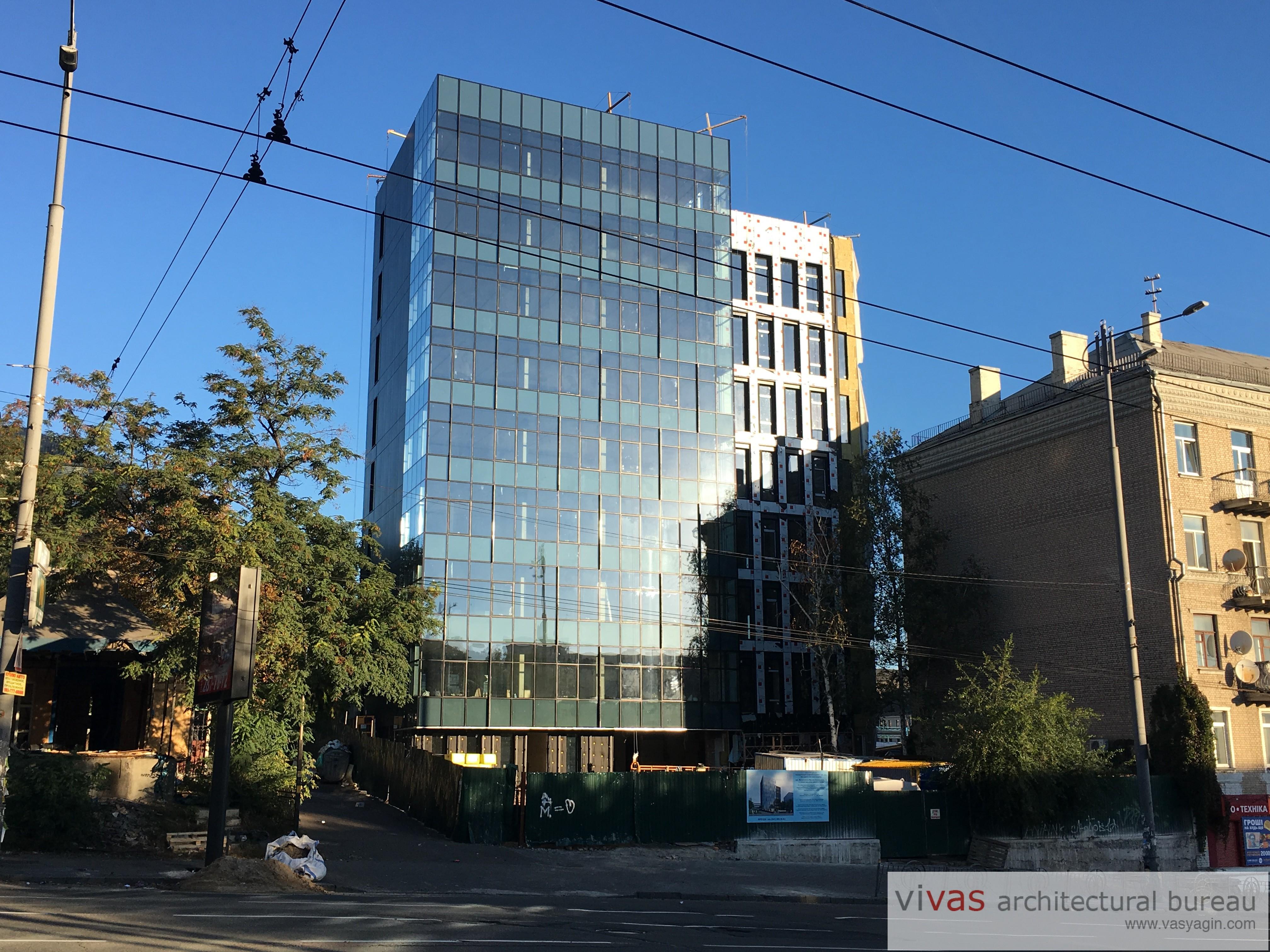 Reconstruction of the business center on v.lypkivskogo str. kyiv