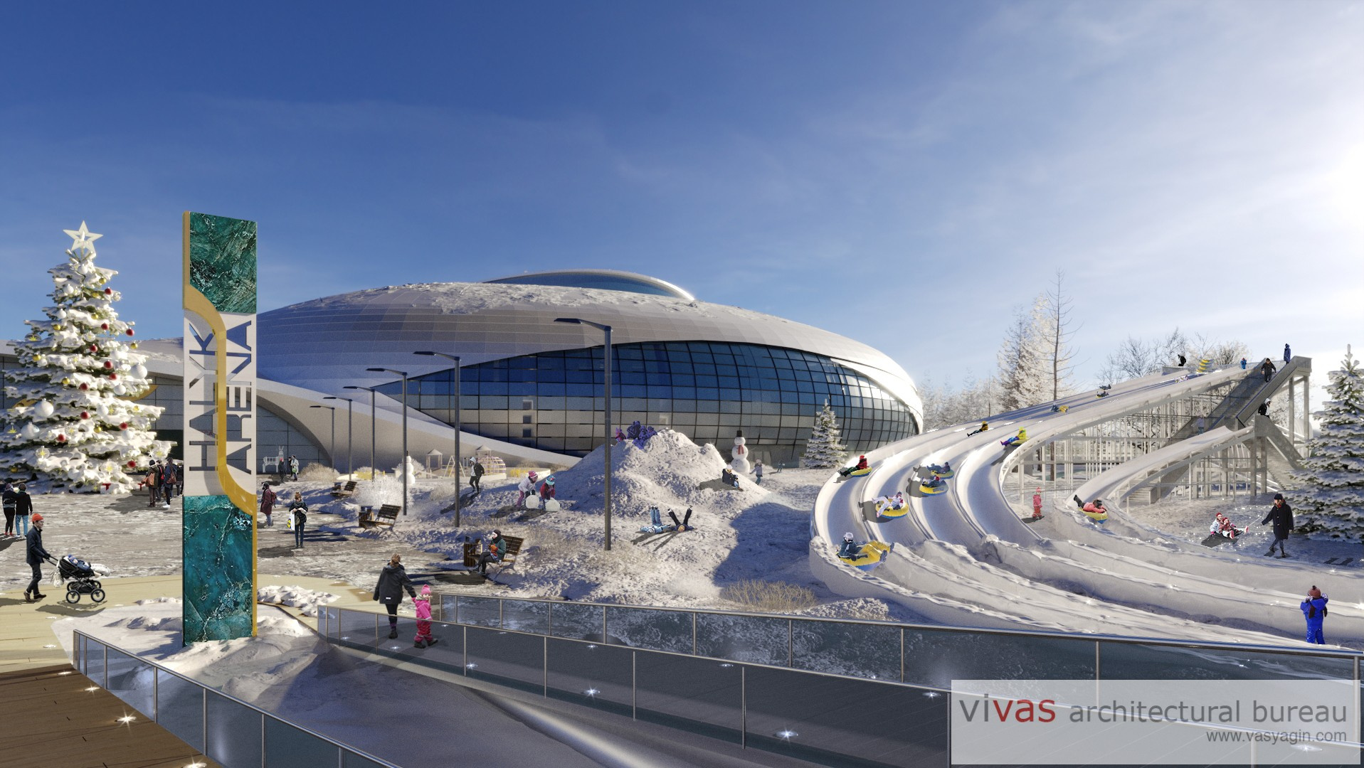 Renovation of Khalyk-arena site in Almaty, Kazakhstan