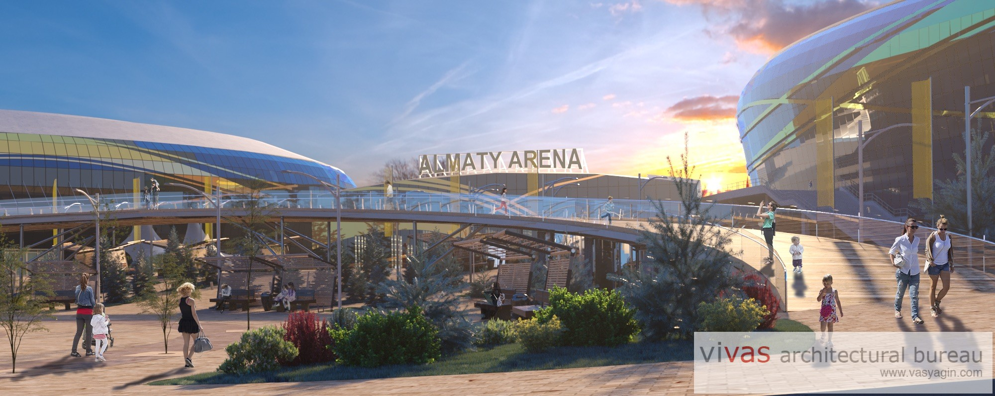 Renovation of Almaty-Arena site in Almaty, Kazakhstan
