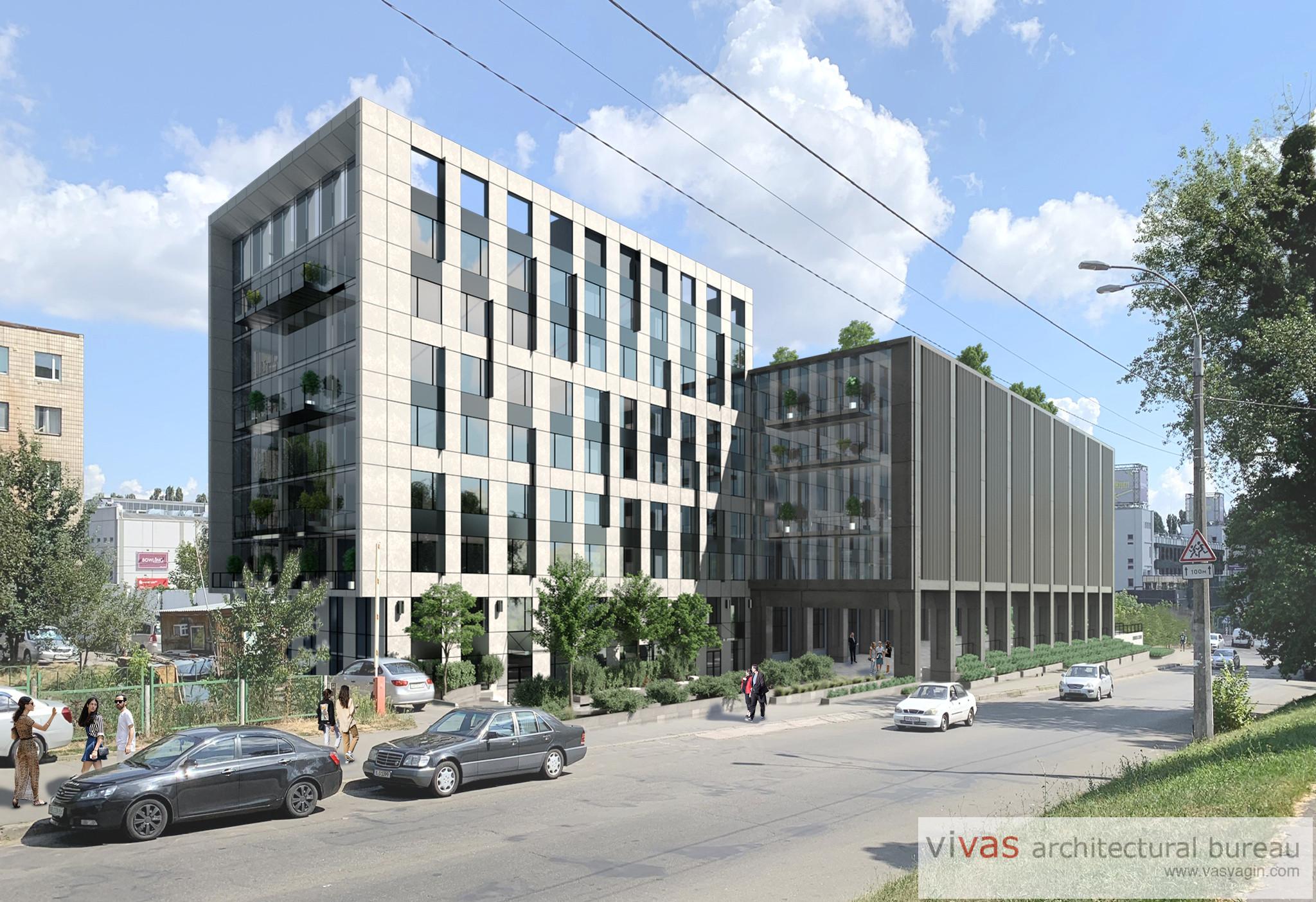 Reconstruction for business center on Olexy Tihogo str. in Kyiv